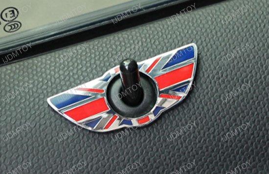 MINI Cooper Union Jack Style Door Lock Deco