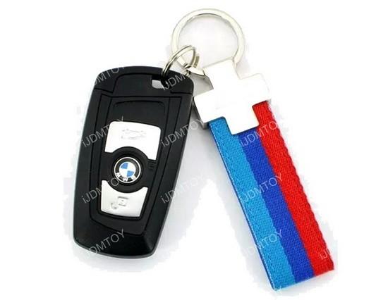 BMW 3 Color Stripe Key Chain