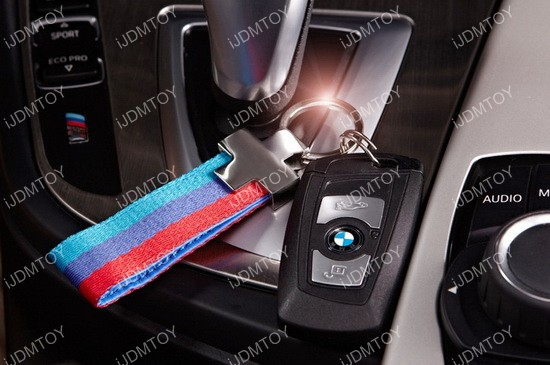 BMW 3 Color Stripe Key Chain
