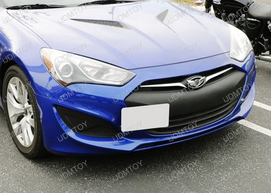 Hyundai Genesis Coupe Front License Plate Tow Hole Bracket