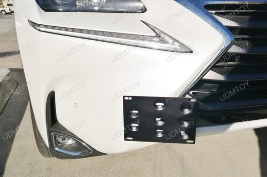 Tow Hole License Plate Relocator