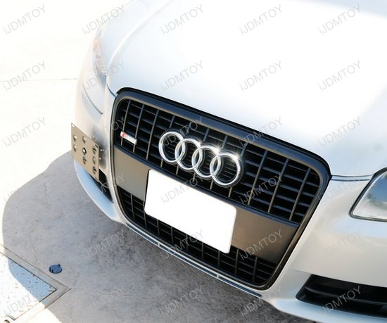 Audi License Plate Tow Hole Mounting Bracket