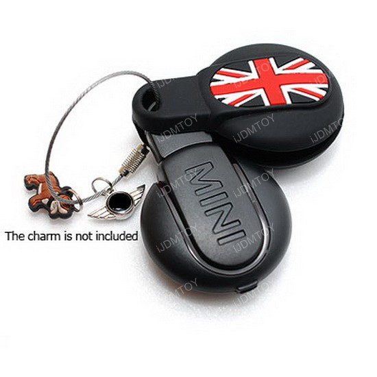 mini cooper union jack uk flag silicone key fob holder cover. Black Bedroom Furniture Sets. Home Design Ideas