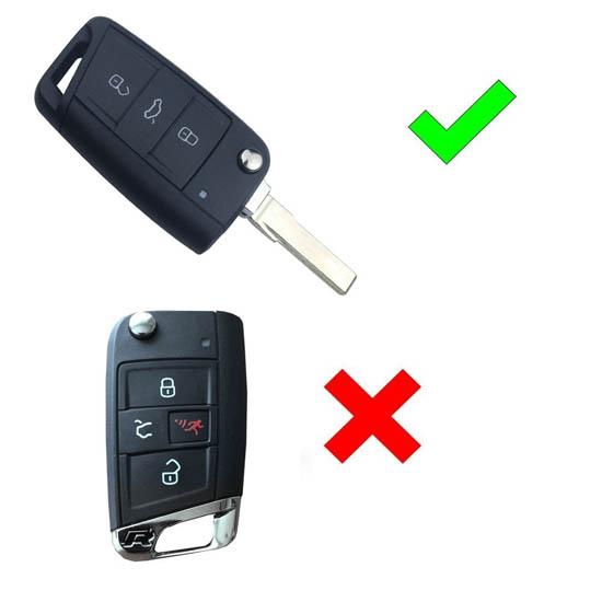 Volkswagen MK7 Golf GTi Key Shell