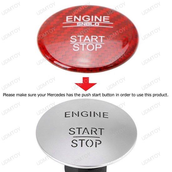 Carbon Fiber Mercedes Push Star Button Cover
