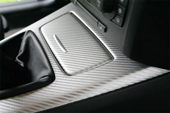 Silver 3M Di-Noc Style Carbon Fiber Sheet