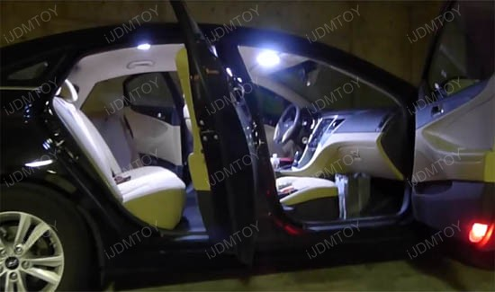 White 4 Pcs 42 Smd Exact Fit Led Interior Lights Package For 2011 Up Kia Optima Ebay