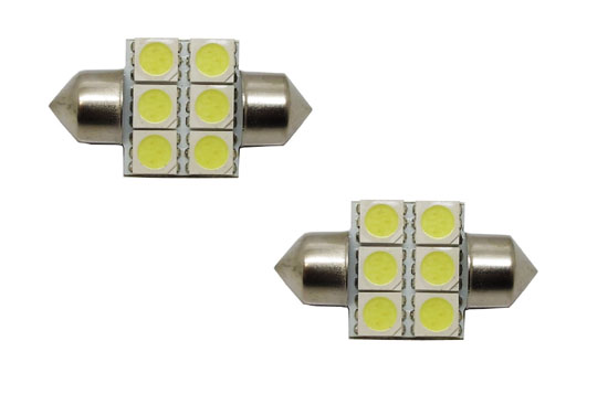 6-SMD 5050 D31mm DE3175 DE3022 LED Bulbs