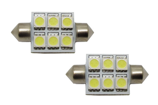 6-SMD 5050 D36mm 6411 6418 LED Bulbs