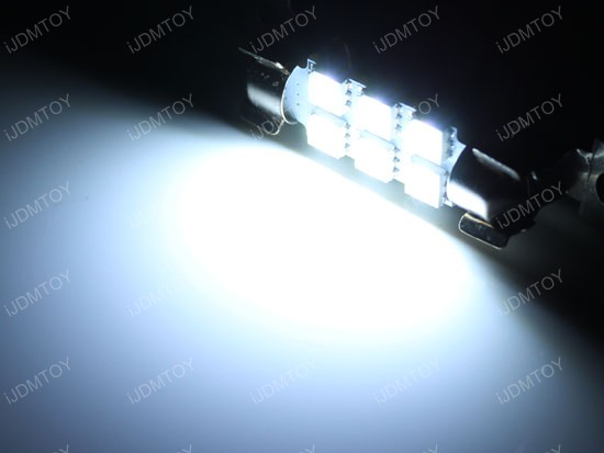 6-SMD D42mm 578 211-2 LED Dome Map Lights