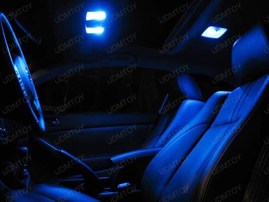 JDM Super Bright Xenon White or Ultra Blue 12-SMD 1210 D31mm Festoon LED bulb for DE3175 (3175) or DE3022 (3022)