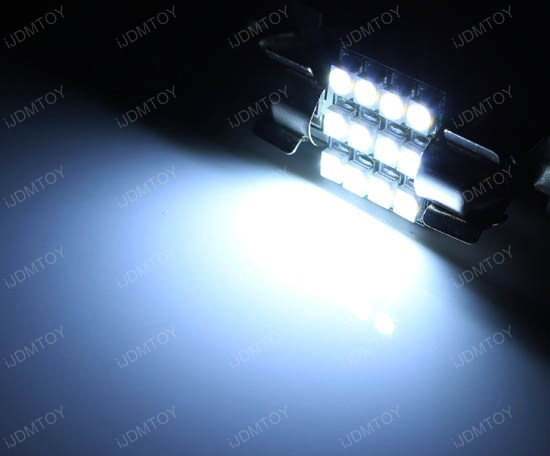 12-SMD 1210 D31mm DE3175 LED Bulbs