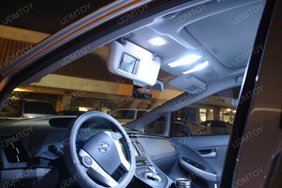 iJDMTOY Xenon White LED Interior Lights