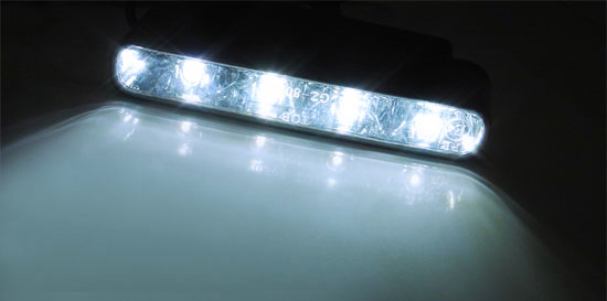 4-LED Xenon White Daytime Running Lights DRL