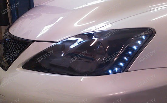 "JDM Audi A5 Q5 R8 Style Xenon White or Ultra Blue Side Shine 20"" SMD Flexible LED Strip Lights For Headlight Lamps"