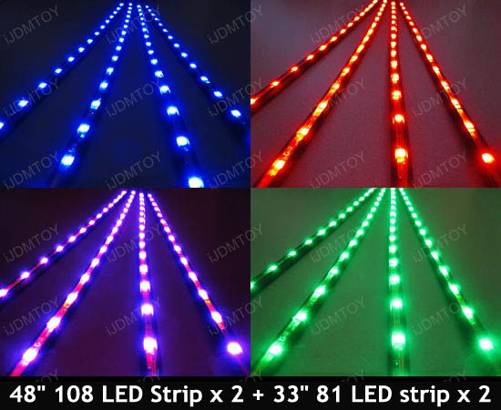 Sound Active 7-Color RGB SMD LED undercar lights