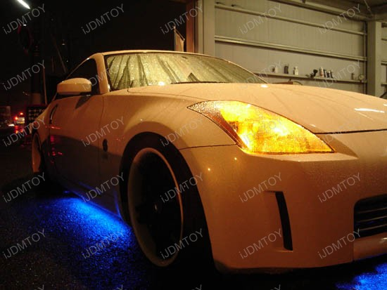 "JDM Sound Active 7-Color Undercar Underbody LED Neon Glow Lighting Kit with Wireless Remote Control (2 x 36"" & 2 x 24"")"
