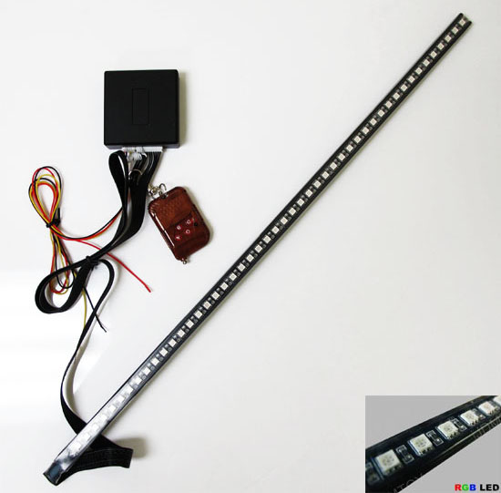 48 RGB 7-Color LED Scanner Strip Lighting Kit