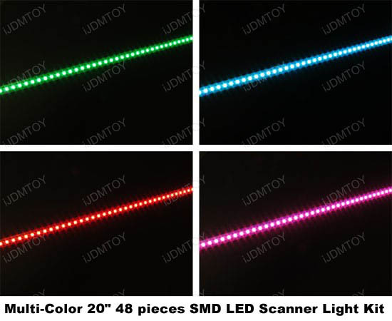 7-Color LED Scanner Strip Kit with Remote Control