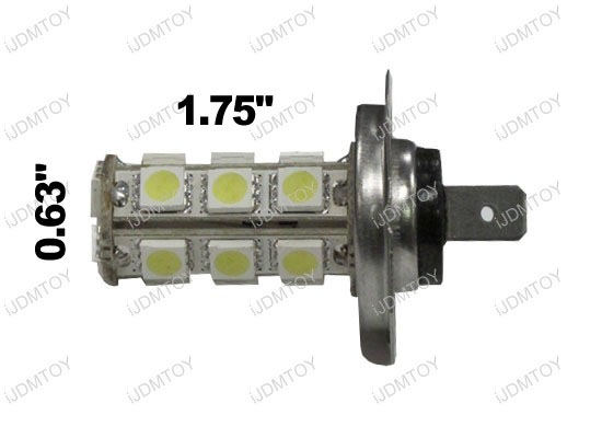 18-SMD H7 Hyper-Flux LED Bulbs