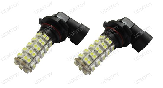 Golden Yellow 68-SMD 360-degree shine 9005/9006 Universal Fit Hyper-Flux LED Bulbs For Fog Lights or Daytime Running Lights