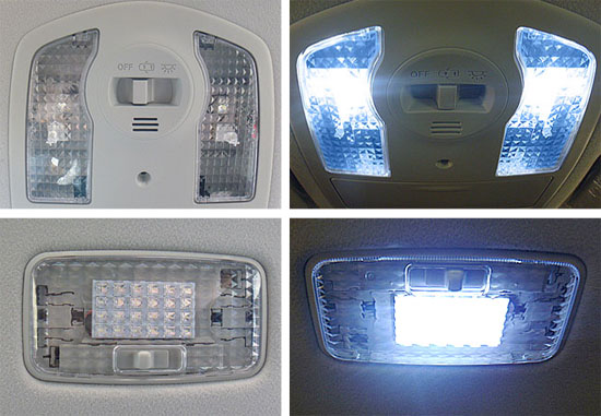 Toyota Prius Crystal Clear Interiro Lamp Covers