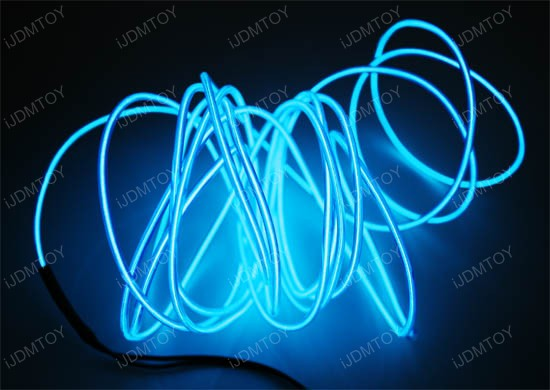 ijdmtoy ultra blue el neon flexible strip lights for car. Black Bedroom Furniture Sets. Home Design Ideas