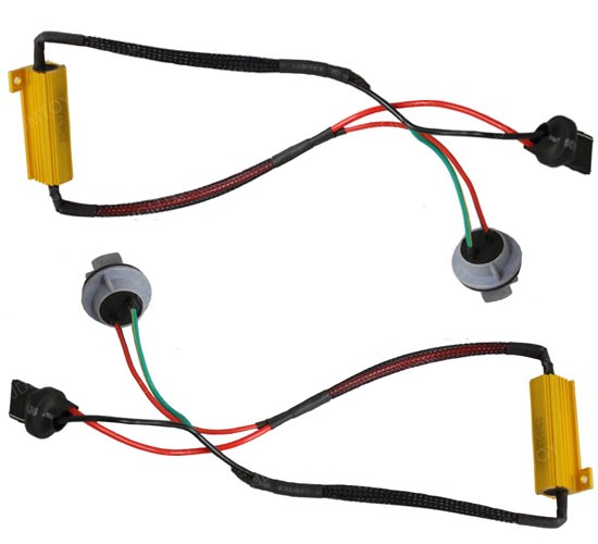 50W LED Turn Signal Light Decoder Wire 09 1156 3156 7440 led hyper flash fix wiring adapters for turn signal  at honlapkeszites.co