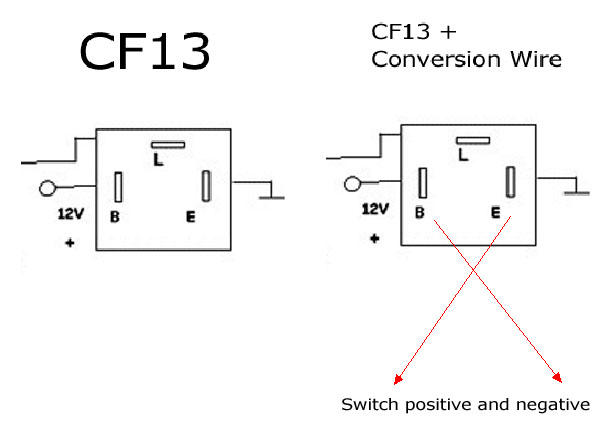 LED Flasher CF13 CF14 Conversion Wire 03 japanese car 3 pin 12v cf13 cf14 led flasher blinker bulbs relay fix Flasher Circuit Diagram at virtualis.co