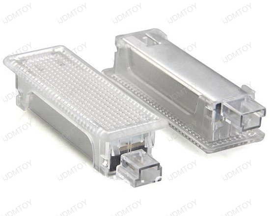 Xenon White High Power OBC Error Free LED Step Courtesy Light Modules w/ Canbus Controller for BMW 1, 3, 5, 6, 7, Z4, X5, X6 Series