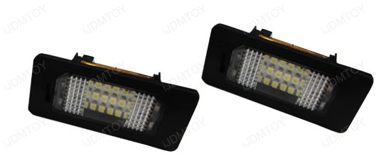 Xenon White High Power OBC Error Free LED License Plate Light Modules w/ Canbus Controller for BMW 3 Series, 5 Series, X Series, etc