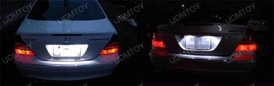 OBC Error Free LED License Plate Light Mercedes W219 CLS