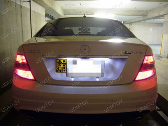 OBC Error Free LED License Plate Light Mercedes