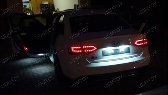 oem replace led license plate lamps for audi a4 a5 s4 s5 q5 tt