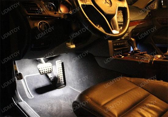 Mercedes Led Lights For Vanity Mirror Side Door Footwell