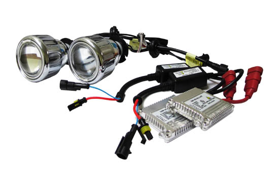 Bi-xenon HID kit with CCFL angel eye rings, digital ballast and 6000K-8000K HID bulbs