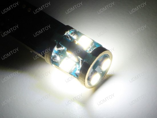 10-SMD-5730 Error Free 2825 W5W LED BULBS