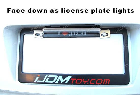 Tiltable LED Reverse or License Plate Lamps