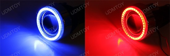 Glass Projector Lamps 40-LED Angel Eye Halo Rings H3 HID