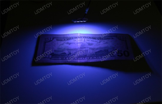 6-SMD LED Panel Lights in white or UV colors