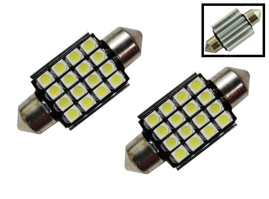Error Free 16-SMD 6418 LED License Plate Lights