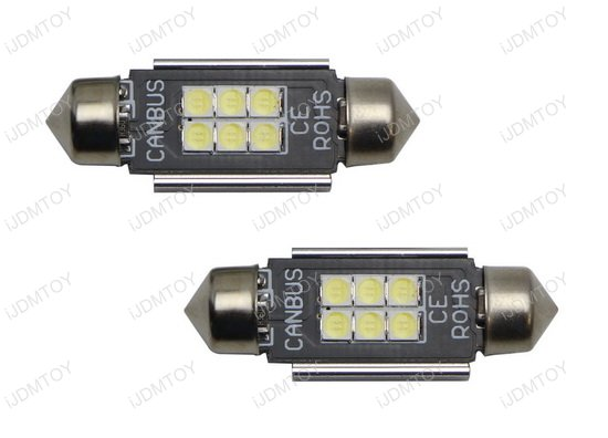 Error Free 6-SMD 6418 LED License Plate Lights