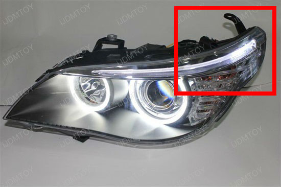 2008 2010 Bmw E60 5 Series Eyebrow Eyelid Xenon White Led