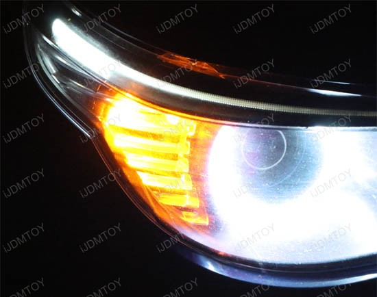 Xenon White BMW E60 LCI LED Eyelid