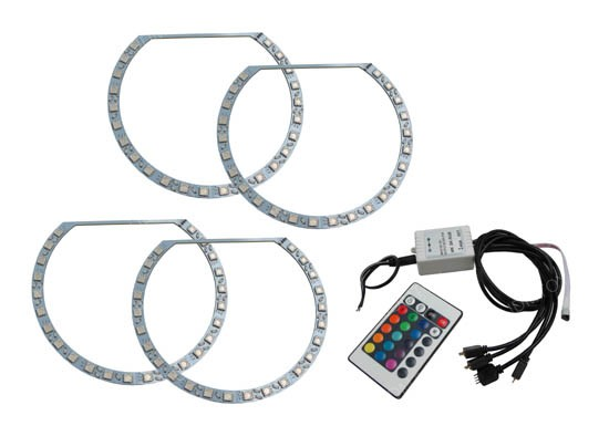 RGB LED BMW Angel Eyes Halo Rings Kit For BMW E36 E46 3 Series E39 5 Series E38 7 Series