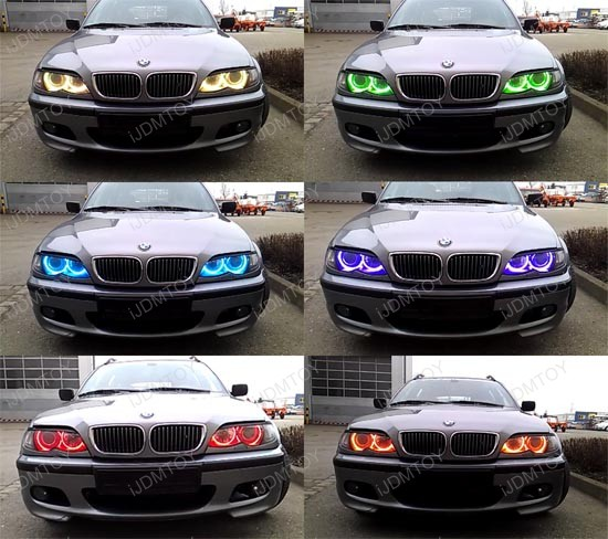 Rgb 7 Color Led Bmw Angel Eyes Halo Ring For E36 E46 E39 3 5 Series