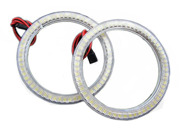 Xenon White SMD LED Halo Rings For Angel Eyes Retrofit