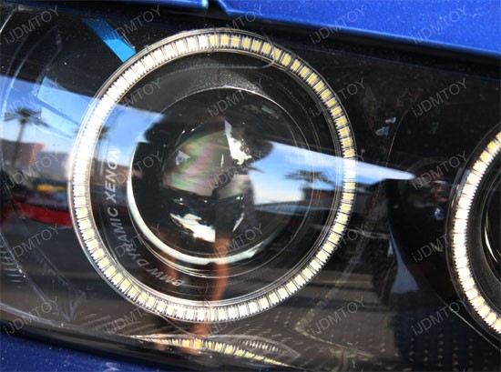 Xenon White SMD LED Halo Rings For Angel Eyes Retrofit