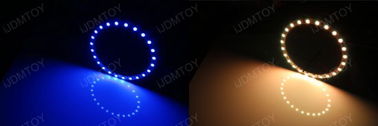 7-Color RGB LED Halo Rings For Angel Eyes Retrofit