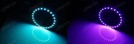 7-Color RGB LED Halo Rings For Angel Eyes Retrofit